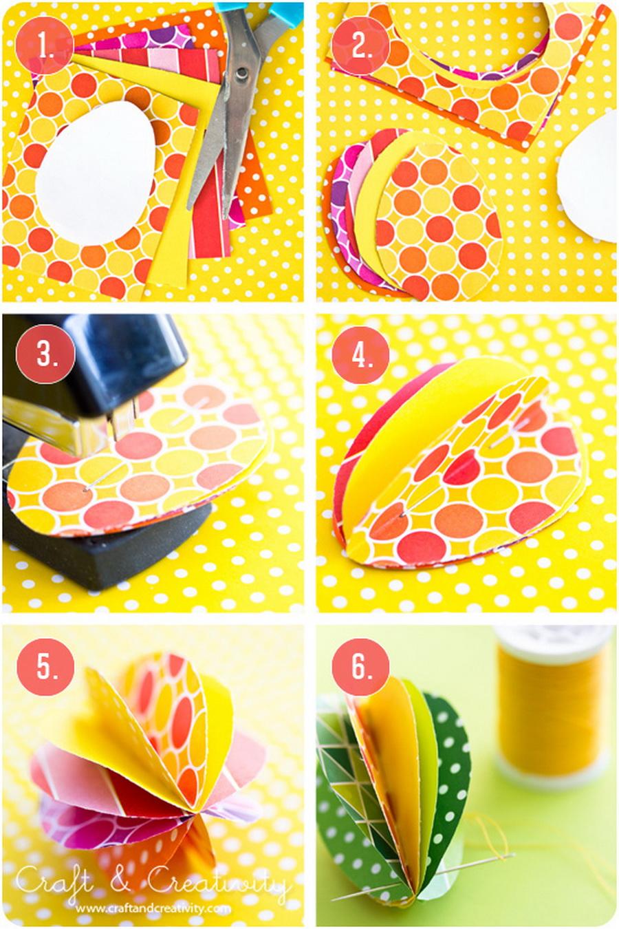 Как сделать из бумаги пасху фото