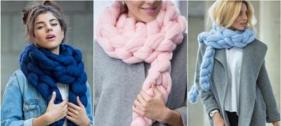 Kako da ispletete topao šal od debele vune samo uz pomoć ruku? (video)