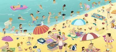 Теtka sa knjigom, nabildovani, model: 10 likova koje ćete sresti na plaži