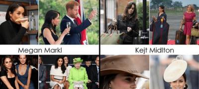 Кејt Midlton i Megan Markl pre i posle ulaska u kraljevsku porodicu, kroz fotke