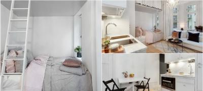Život u Švedskoj je elegantan čak i u 18 kvadratnih metara (foto)