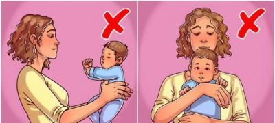 Vodič za taze roditelje: Kako se NE drži dete?