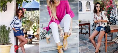 Inspiracija za prolećne kombinacije sa ravnim sandalama