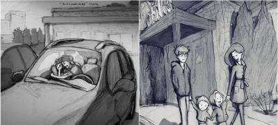 Pre 2 godine je ilustrovao tugu zbog spontanog pobačaja, a danas crta srećnu porodicu