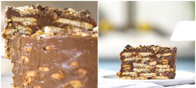 Italijanska čokoladna torta sa ređanim keksom