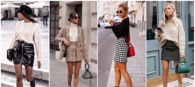 Ideje za jesenji autfit sa mini suknjom (foto)