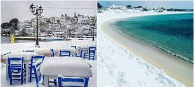 10 mesta u Grčkoj koja niste navikli da vidite pod snegom