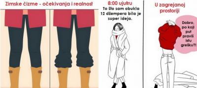 Ženski zimski problemi kroz ilustracije