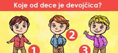 Test opažanja: Koje od dece je devojčica?