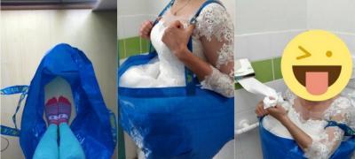 Zabavan izum sa IKEA proizvodom: Nevesta je smislila kako da ide u toalet na svojoj svadbi (foto)